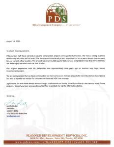 Belmontez testimonial from Planned Development Services